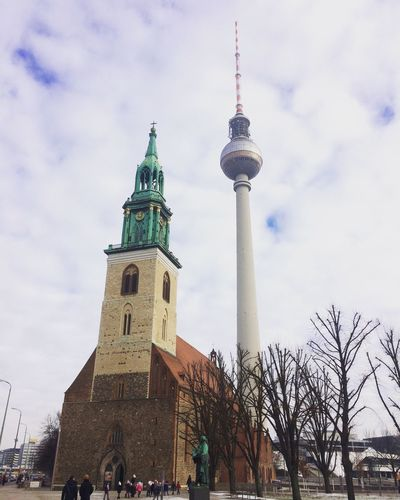 Alexanderplatz Tower Architecture Sky Building Exterior Built Structure Travel Destinations Outdoors City Tourism Hello World EyeEm Best Shots Traveling Travel Voyage RePicture Travel Eyem Religion Berlin Allemagne Germany Hiver Froid