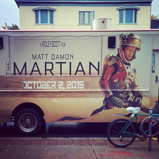 Bringhimhome Themartian Foodtruck RainyDay Rainy Promotion Advertising outside @detroiteatery