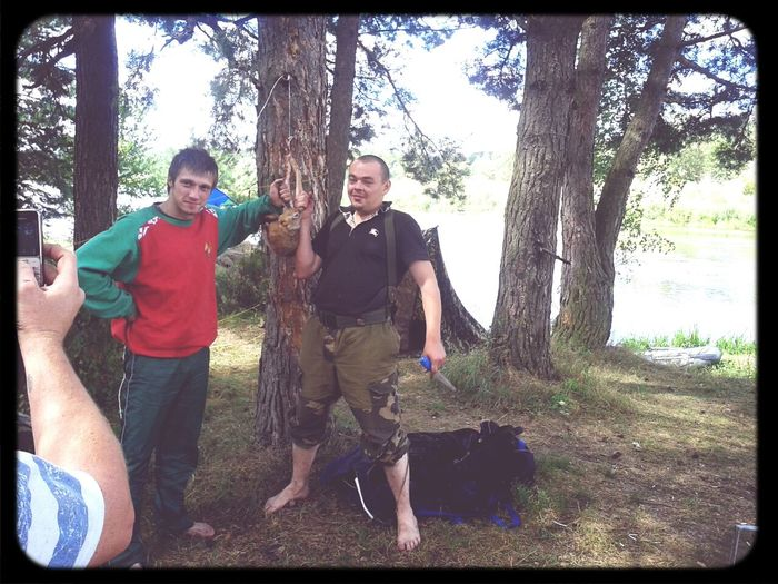 Неман Hanging Out Taking Photos рыбалка. Поймали зайца