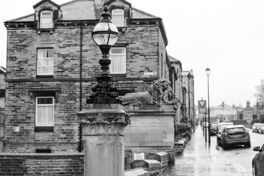 City Built Structure Architecture Building Exterior Outdoors Travel Destinations Sky No People Day Saltaire Bradford Tourist Attraction  Cobblestone Streets Yorkshire POV Light And Shadows Perspective Hill Shops Light And Shadow Black And White Monochrome Black & White Architecture Buildings