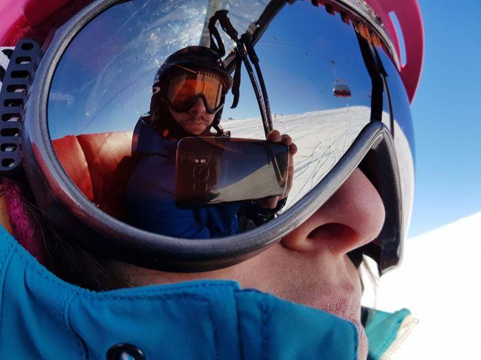 Self portrait in ski googles Ski Ski Holiday Slope Ski Goggles Ski Glasses Ski