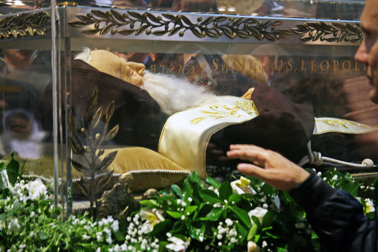 Welcome of St.Leopold Mandic's body in Zagreb,relics,6,2016. Believers Body Cathedral Catholicism Christianity Church Croatia Crowd Eu Pilgrimage Pilgrims Relics Religion Saint St.Leopold Bogdan Mandic Zagreb