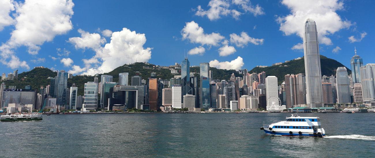 Blue Cityscape Cityscapes Cloud - Sky Hong Kong Harbour Hong Kong Victoria Harbour Seaside Sky Tourism Travel Destinations Waterfront