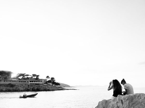 Stakeout @ Feral, Veli Losinj, Croatia, 2016. Stakeout Veli Lošinj Croatia Seascape Seaside Lighthouse Boat Watching Sunset Blackandwhite Rock Taking Photos