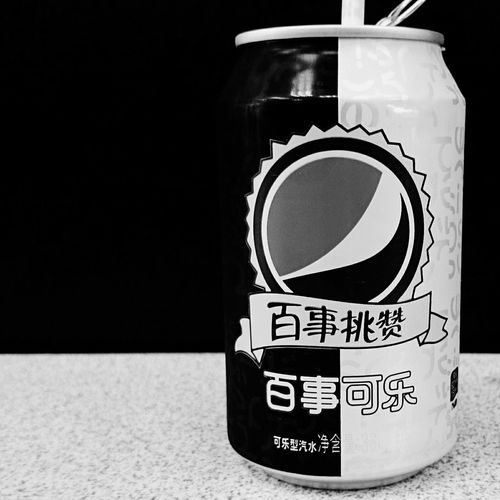 Pepsi 百事可乐 黑白 Black And White Phone Photography