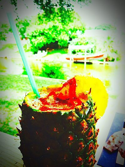 Drinks Ifyoulikepinacolada Taking Photos Pineapple Onthecanal Corpuschristi Texas Getonthislevel BottomsUp