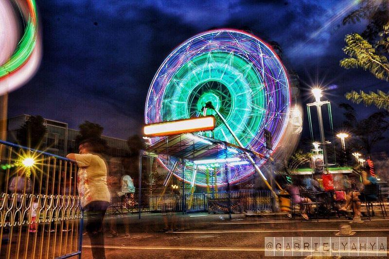 Cherish wheel Amusement Park Night EyeEmNewHere where people can enjoy Lights