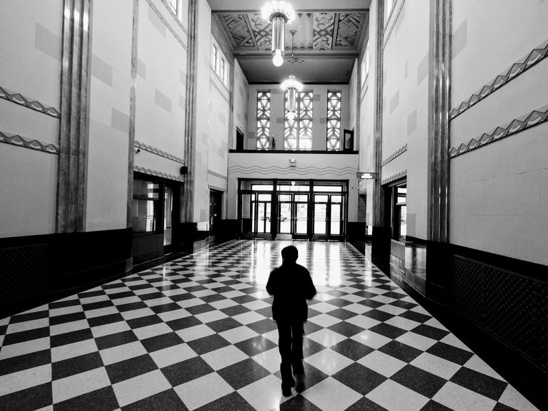 Visual Journal December 2016 - Union Station Durham Museum Omaha, Nebraska (Fujifilm Xt1,Fuji 10-24/f4 OIS) edited with Google Photos. A Day In The Life Camera Work Christmastime EyeEm Best Shots EyeEm Best Shots - Black + White EyeEm Gallery Historical Building Historical Buildings Omaha, Nebraska Photo Diary Rear View Series Storytelling Union Station Visual Journal