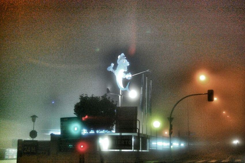 Night City Urban Light Taking Photos Night Lights Mist Urban Landscape Misty