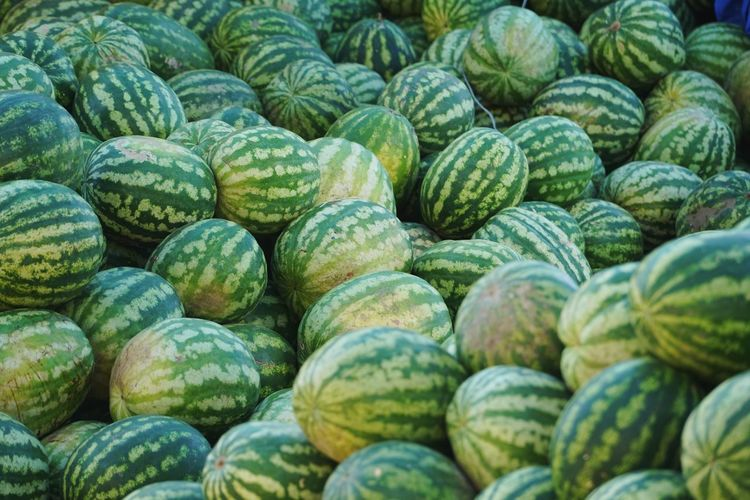 Full frame shot of watermelons for sale in market stall