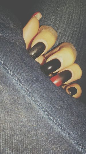 Nails Black&Red Love Sweet