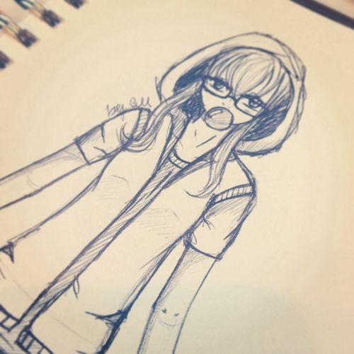 My character (^ω^) New_art Anime Animesketch Manga