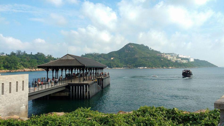 Blake Pier Hong Kong Island Pier Stanley Bay Boat Cloud - Sky Day Mountain Nautical Vessel Outdoors People Sea Sky Water Waterfront