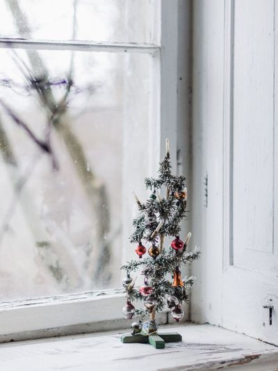 Merry Christmas Old Window Frame Vintage Christmas Tree EyeEm Selects No People Christmas Decoration Indoors  Tree