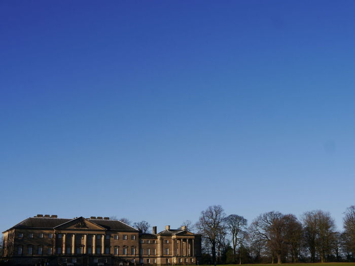 Nostell Priory NostellPriory Architecture Bare Tree Blue Building Exterior Built Structure Clear Sky Day House National Trust 🇬🇧 Nature No People Outdoors Sky Tree