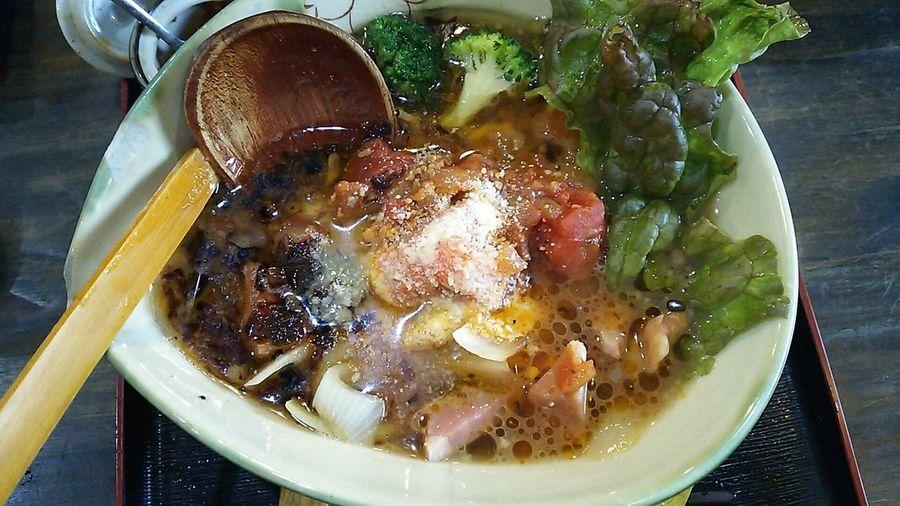 Lunch Time! Food Porn ラーメン Ramen Enjoying A Meal Enjoy A Meal トマトラーメン トマト Tomato らーめんとまや(ºωº)トマトラーメン お好みで…スジャータ出てきました(笑)
