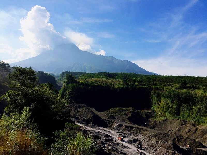 The Essence Of Summer Penambang Pasir Merapi Volcano Sand Quarry IPhoneography Accoustick Magelang Sand Mountain