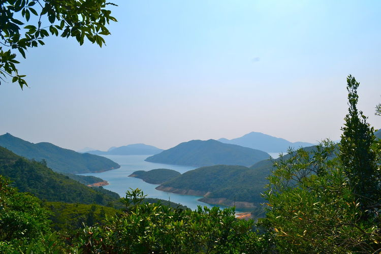 Scenic view of archipelago in hong kong