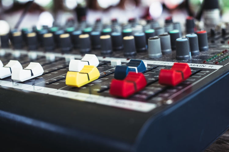 sound mixer Audio Copy Space Dj Arts Culture And Entertainment Audio Equipment Backgrounds Button Buttons Close-up Control Control Panel Creativity Equipment In A Row Mixing Music Musical Instrument Object Party Recording Studio Selective Focus Sound Mixer Sound Recording Equipment Studio Technology Analogue Sound