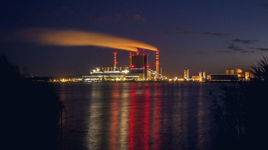 Cityscape Sea City Chimney Smoke Atmospheric Air Pollution Entertainment Emitting