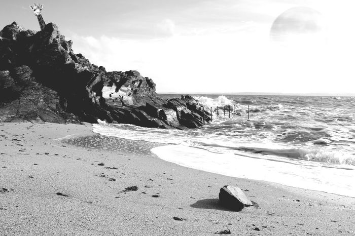 Edited Photoshop Composite Fantasy Sea Beach Sand Rock - Object Nature Shore Beauty In Nature Water Horizon Over Water Tranquility No People Tranquil Scene Day Outdoors Sky Scenics Wave