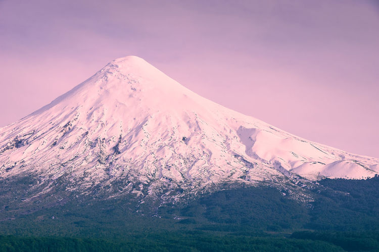 Osorno volcano... EyeEmNewHere The Great Outdoors - 2018 EyeEm Awards Beauty In Nature Cold Temperature Environment Idyllic Landscape Majestic Mountain Mountain Peak Nature No People Non-urban Scene Outdoors Scenics Scenics - Nature Sky Snow Snowcapped Mountain Sunset Tranquil Scene Tranquility Travel Destinations Volcano Winter