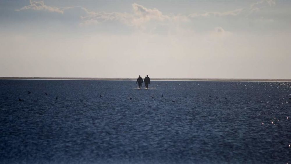 Horizon Over Water Beach Sea Water Beauty In Nature Nature Seascape Watt Wattenmeer Nordsee Nordseeküste Nordsee Feeling🐚🌾 Northsea Westerhever Sandbank Sandbanks Eiderstedt Nordfriesland Schleswig-Holstein People Peoplephotography People And Places People Of EyeEm People Walking  Spaziergang
