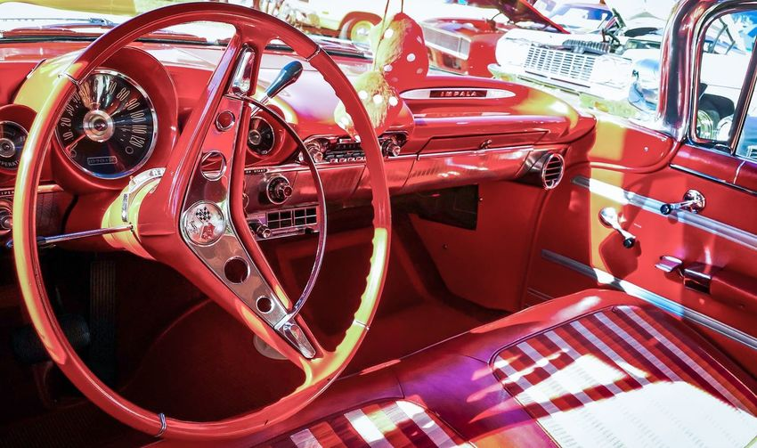 Close up of red wheel
