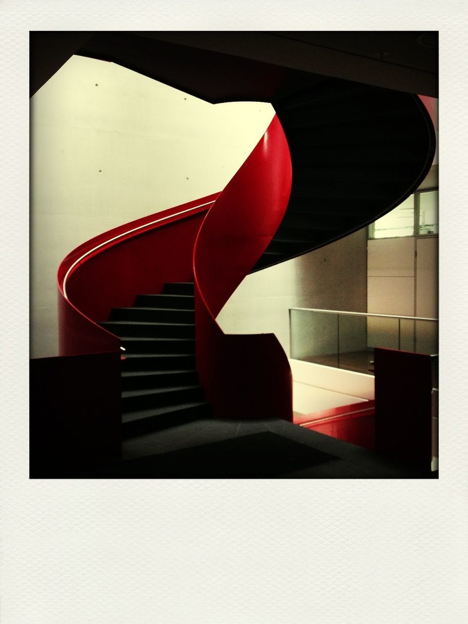 red, indoors, no people, architecture, close-up, built structure, day