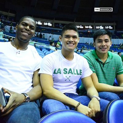 Who's who at the epic Ateneo-La Salle rivalry round 2? @zionlimpot @yourfilipinojt ??? . . . UAAP Uaap77 Uaapseason77 ADMUvsDLSU ateneolasalle ateneo blueeagles dlsu greenarchers hoop basketball themanansala