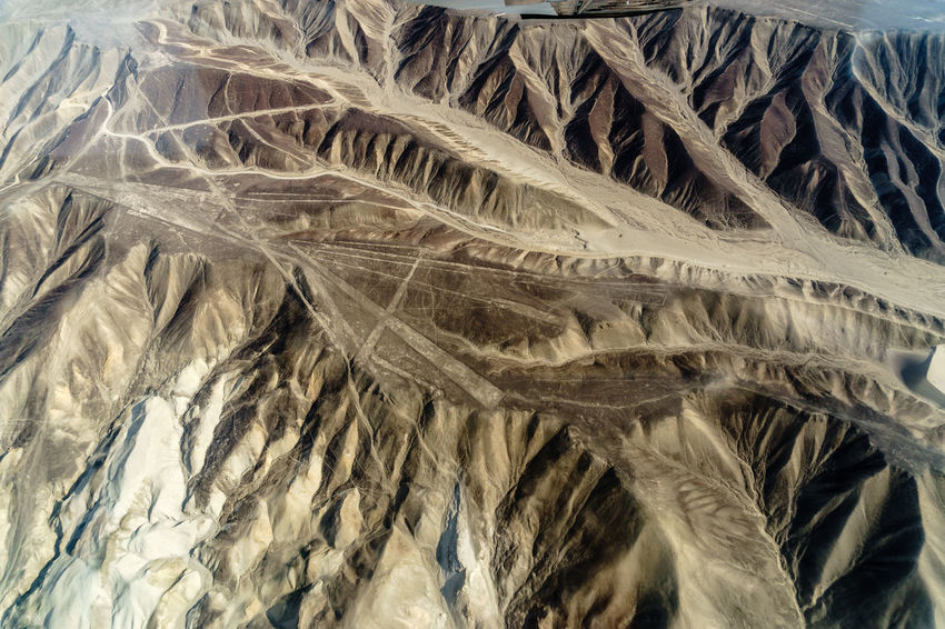 Above Alien America Ancient Cessna Culture Desert Geoglyph Geometric Shapes International Landmark Lines Nasca Lines Nazca Nazca Lines Peru Plane Plateau Shapes South Travel Travel Photography Landscapes With WhiteWall A Bird's Eye View Ice Age