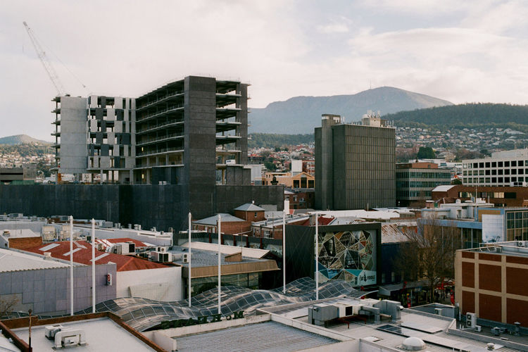 Hobart: Cityscape looking towards Kunyani/Mt Wellington. Australia City Cityscape Kunyani Film Photography Hobby Landscape Mountain No People Tasmania EyeEmNewHere Adventures In The City