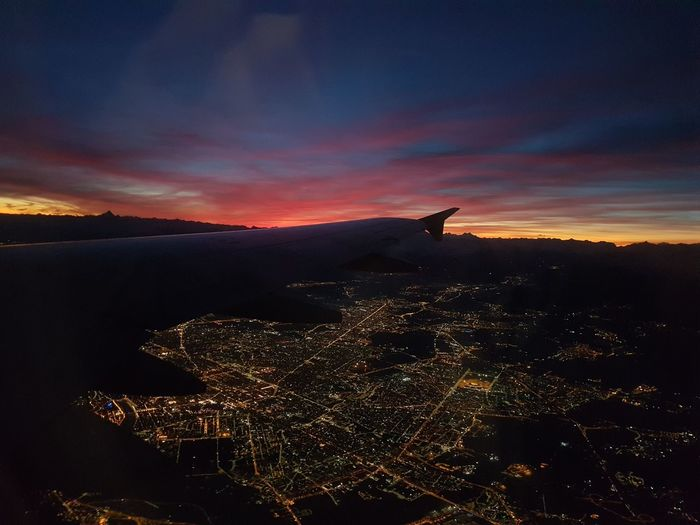Night Outdoors Sky No People Landscape Cityscape Airplane Silence Travel Go To Home Traveling Home For The Holidays Flying High