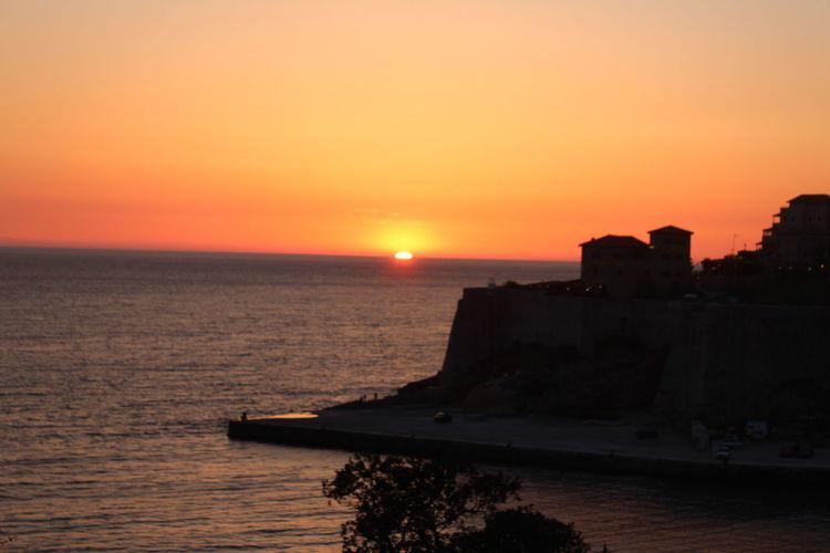Water Sea Nautical Vessel Sunset Lighthouse Beach Horizon Sun Reflection Silhouette Moody Sky Romantic Sky