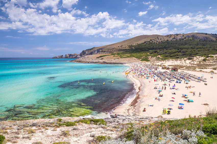Cala Mesquida Beach in Mallorca, Spain Cala Mesquida Mallorca SPAIN Balearic Islands Beach Beauty In Nature Cala Ratjada Clear Water Day Land Nature Sea Sky Tourist Destination Turquoise Colored Turquoise Water Water
