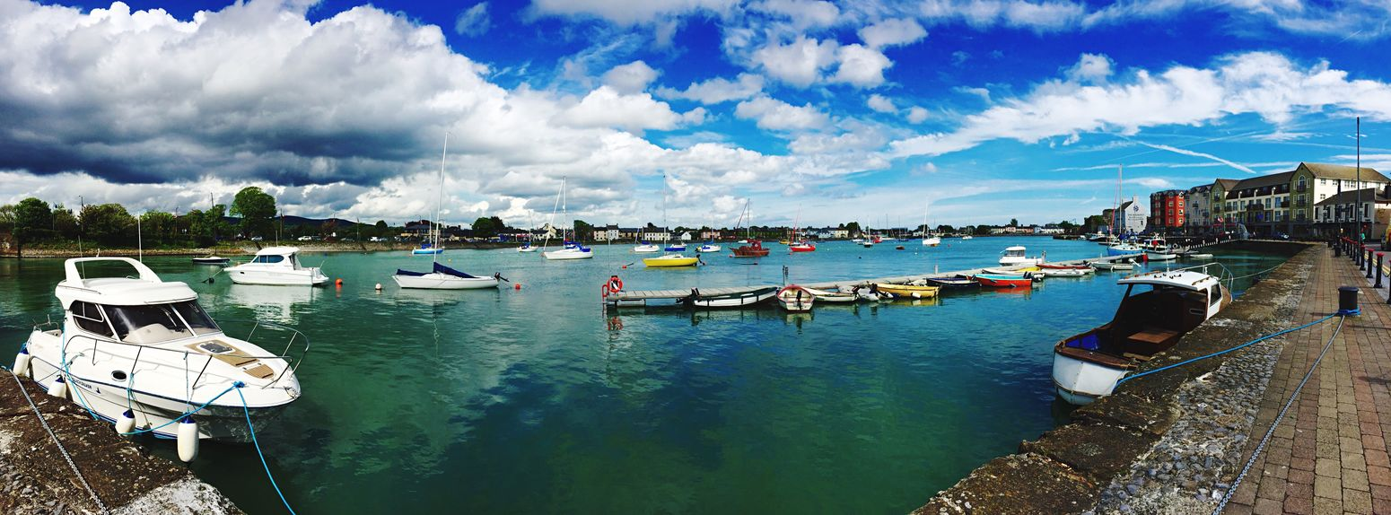 Nautical Vessel Cloud - Sky Water Mode Of Transport Outdoors Day Sea Nature Built Structure Scenics No People Harbor Boats⛵️ Ireland🍀 Irelandinspires Ireland Lovers