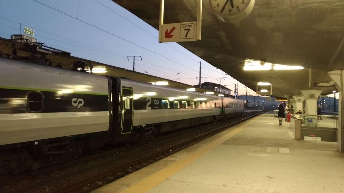 City Subway Train Railroad Station Platform Public Transportation Train - Vehicle Railroad Station Rail Transportation Arrival Incidental People Sky