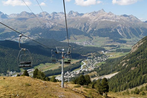 Cable Day Mountain Mountain Range Nature No People Outdoors Overhead Cable Car Ski Lift Sky Steel Cable