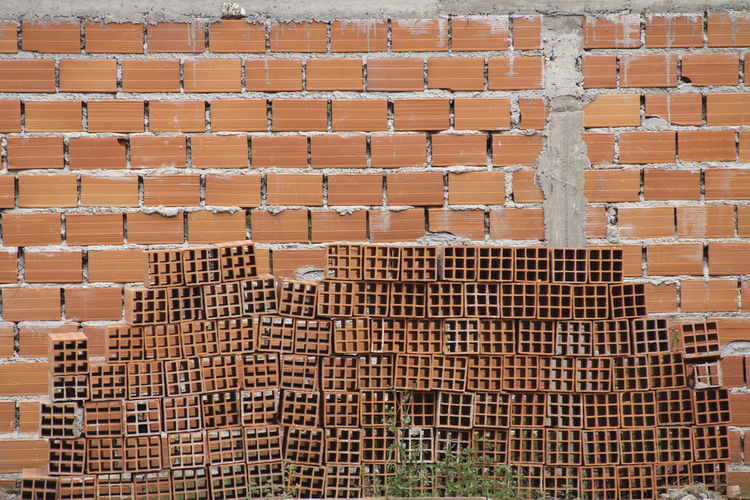 Construction Architecture Brick Pile Brick Wall Bricks Building Exterior Built Structure No People Outdoors