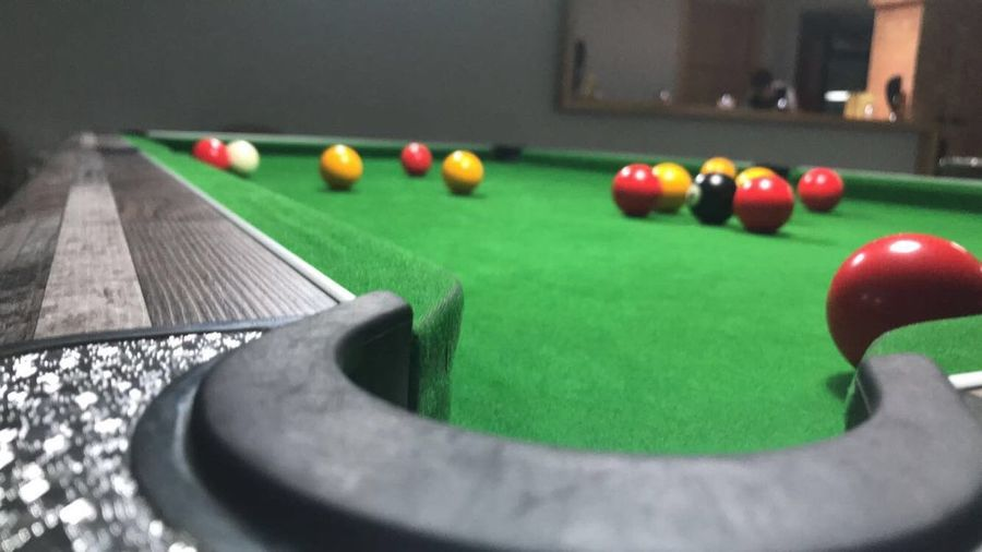 Sport Table Ball Pool Table Pool Ball Green Color Pool - Cue Sport Snooker No People Close-up Pool Cue Playing Selective Focus Focus On Foreground Arts Culture And Entertainment Leisure Games Leisure Activity Indoors  Relaxation Sphere First Eyeem Photo