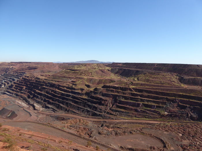 Arid Climate Clear Sky Geology Iron - Metal Iron Ore Industry Iron Ore Minning Industry Iron Ore Open Cut Mine Minning Open Cut Physical Geography Where Do Cars Come From?