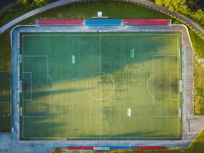 Soccer field Aerial Shot DJI X Eyeem Drone  Lietuva Aerial Aerial View Architecture Built Structure Close-up Communication Day Empty Europe Geometric Shape Glass - Material Green Color Mavic Mavic Pro No People Outdoors Playing Field Soccer Soccer Field Sport Team Sport The Architect - 2018 EyeEm Awards