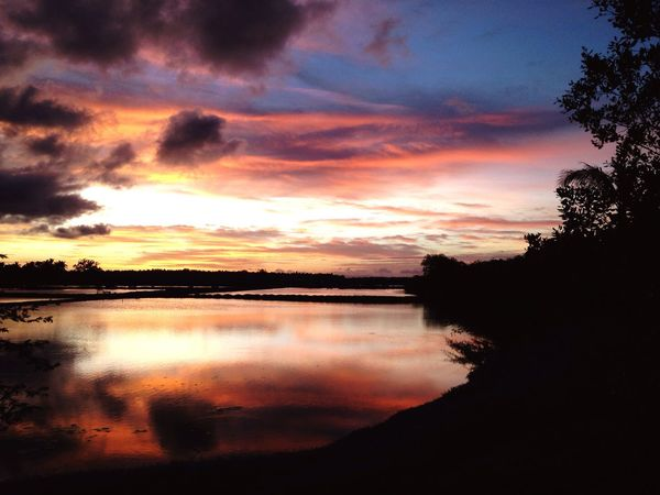 Sunset in Macaas Bohol Philippines Sunset_collection Sunset Silhouettes Tropical Lake Water Water Reflections Sky Sky And Clouds Nature Nature_collection EyeEm Nature Lover Boardwalk Peace
