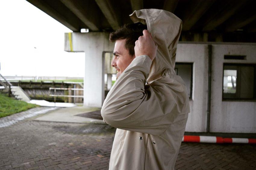 U just gotta love the Rains beige jacket 👌🏻 Street Fashion Model Photography Men Fashion Boy Rains Beige Jacket Rain Raincoat