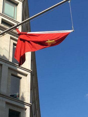 China Tied Up Chinese Flag Chinese Flag Tied Up Flag China China. China In Turmoil