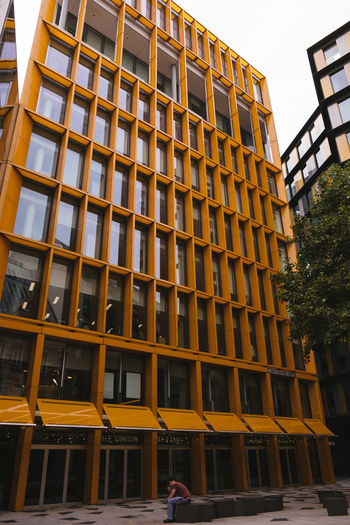 Lonely Apartment Architecture Building Building Exterior Built Structure City Day Fujifilm Low Angle View Outdoors Streetphotography Yellow