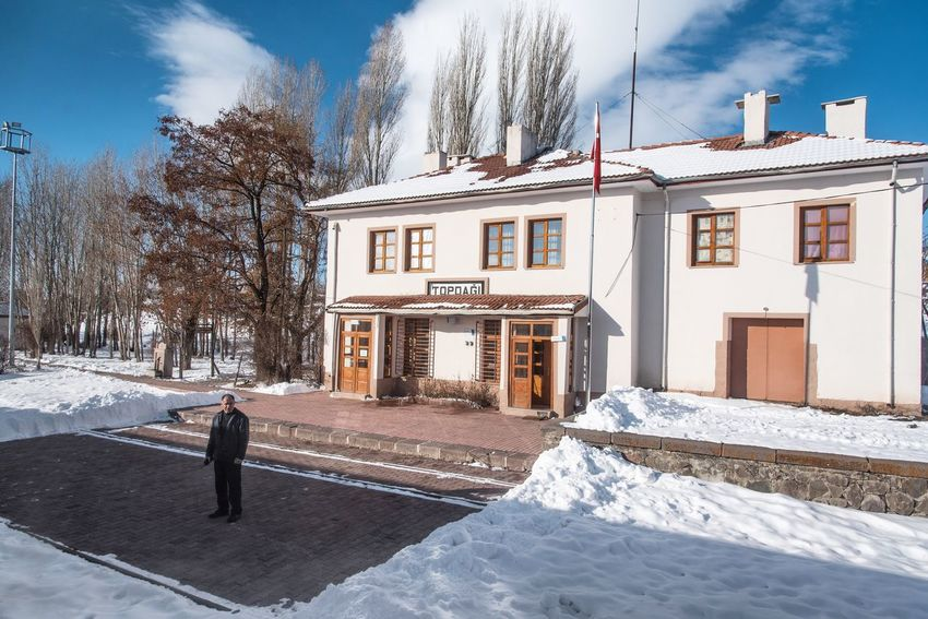 Train Station Topdag Railway Station Architecture Building Exterior Built Structure Sky House Snow Winter