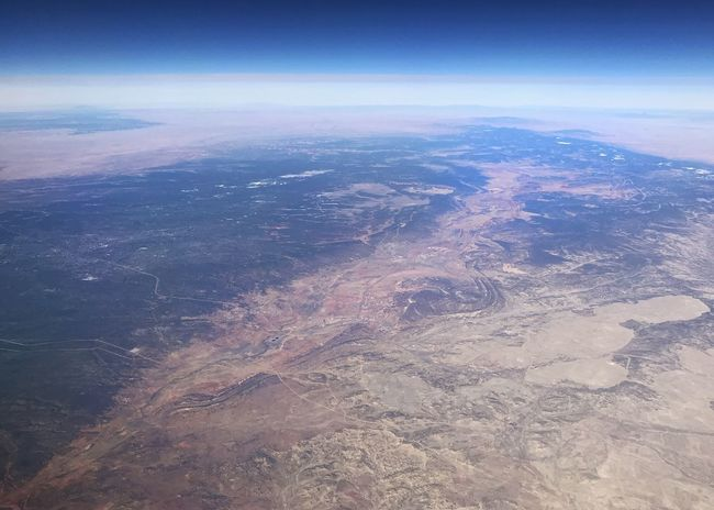 Curvature of the earth. Desert Colors Desert Arid Landscape Rugged Landscape Atmosphere Curvature Of The Earth Western USA Aerial View Scenics Beauty In Nature Landscape Tranquility Nature Outdoors Tranquil Scene Sky No People