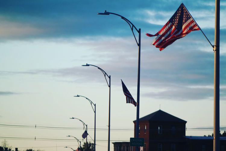 Flag against sky