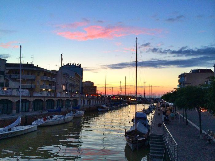 Sunset Tramonto Porto Barche